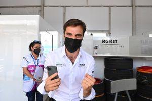 Jerome d'Ambrosio, Deputy Team Principal, Venturi Racing, celebrates victory