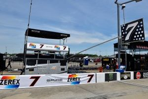 Corey LaJoie, Spire Motorsports, Chevrolet Camaro In Memory of Alan Kulwicki pit stall