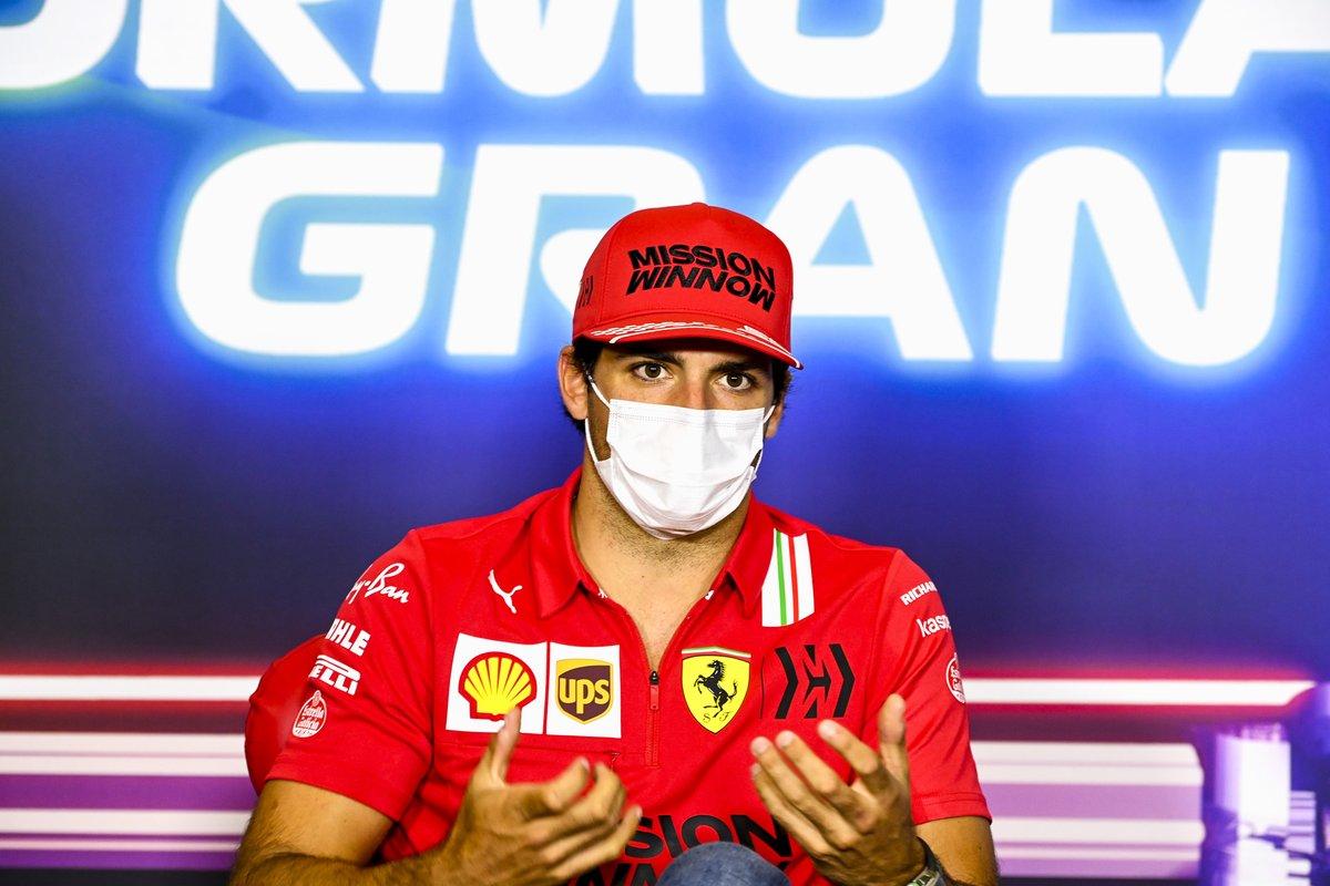 Carlos Sainz Jr., Ferrari in conferenza stampa