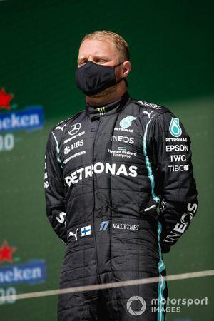 Valtteri Bottas, Mercedes, 3rd position, on the podium