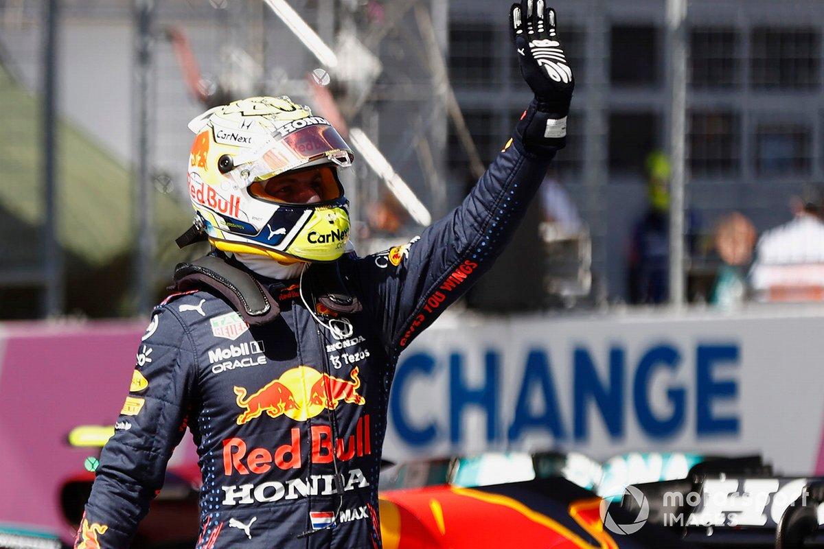 Pole Winner Max Verstappen, Red Bull Racing RB16B