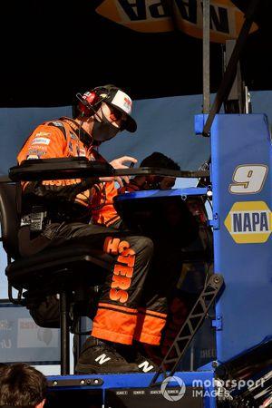 Alan Gustafson, Chase Elliott, Hendrick Motorsports, Chevrolet Camaro Hooters Throwback