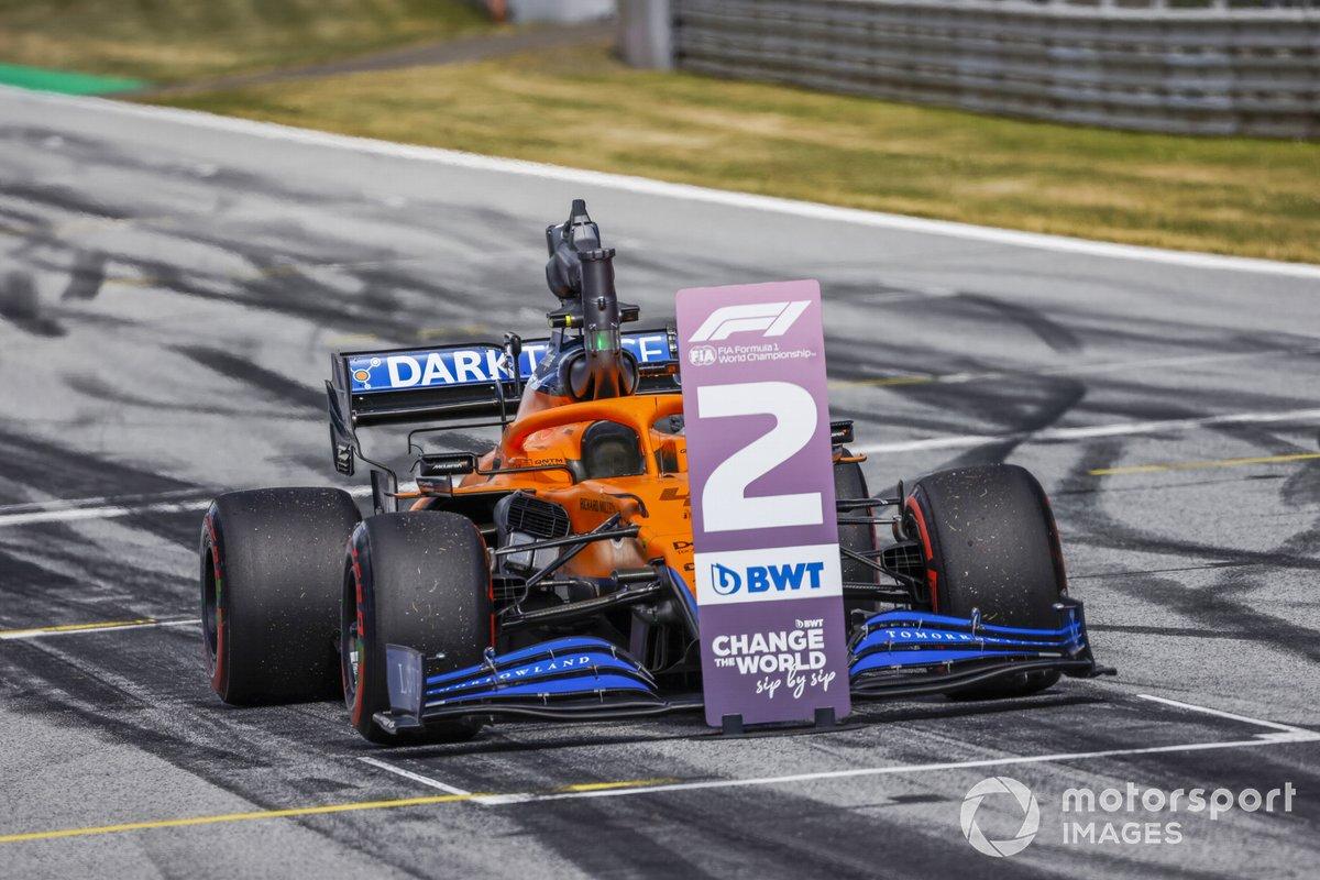 El monoplaza de Lando Norris, McLaren MCL35M tras la calificación