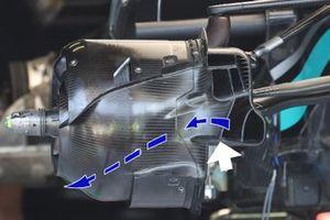 Mercedes W12 drum airflow detail