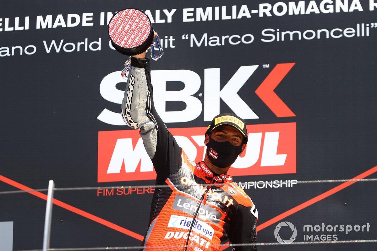 Il vincitore di Gara1 Michael Ruben Rinaldi, Aruba.It Racing - Ducati