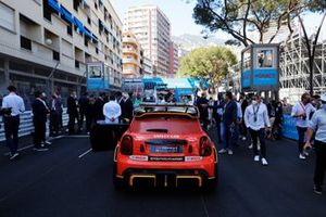 The Mini Safety Car on the grid