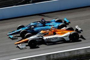 Max Chilton, Carlin Chevrolet et Juan Pablo Montoya, Arrow McLaren SP Chevrolet