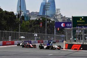 David Beckmann, Charouz Racing System, leads Bent Viscaal, Trident, and Christian Lundgaard, ART Grand Prix