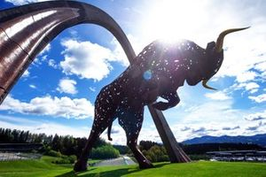 The Red Bull Sculpture