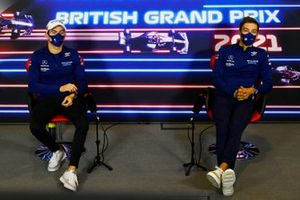 Nicholas Latifi, Williams, and George Russell, Williams, in the press conference