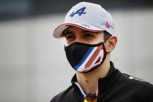 Esteban Ocon, Alpine F1 en la conferencia de prensa