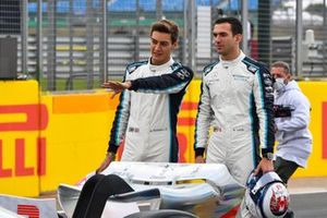 The 2022 Formula 1 car launch event on the Silverstone grid. George Russell, Williams and Nicholas Latifi, Williams