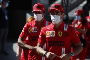 Charles Leclerc, Ferrari, and Carlos Sainz Jr., Ferrari