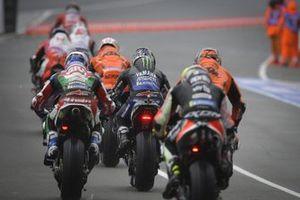 Maverick Vinales, Yamaha Factory Racing in the pitlane