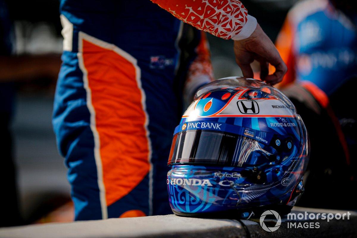 Scott Dixon, Chip Ganassi Racing Honda, helmet