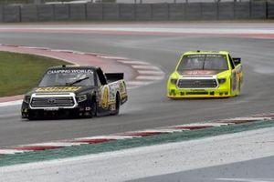 John Hunter Nemechek, Kyle Busch Motorsports, Toyota Tundra ROMCO, Matt Crafton, ThorSport Racing, Toyota Tundra Oklahoma Joe's/Menards