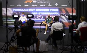 Mick Schumacher, Haas F1 and Sebastian Vettel, Aston Martin in the Press Conference