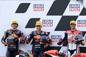 Raul Fernandez, Red Bull KTM Ajo, Remy Gardner, Red Bull KTM Ajo, Fabio di Giannantonio, Federal Oil Gresini Moto2