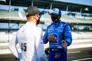 Graham Rahal, Rahal Letterman Lanigan Racing Honda y Spencer Pigot, Citrone Buhl Autosport with RLL Honda