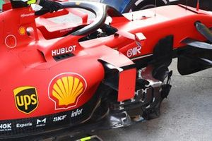 Sidepod detail of the Charles Leclerc, Ferrari SF1000
