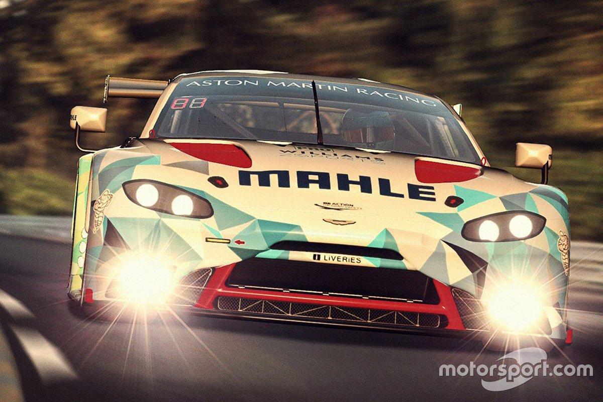 #67 Mahle Racing Team Aston Martin Vantage GTE: Ferdinand Habsburg, Robert Wickens, Jimmy Broadbent, Kevin Rotting
