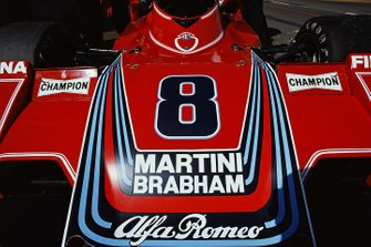 Detail of the nose section on the Carlos Pace's Brabham BT45 Alfa Romeo