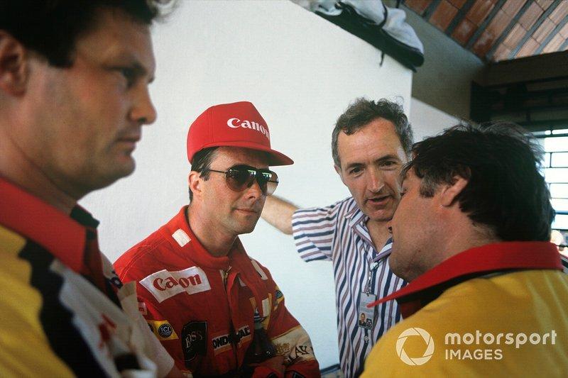 Nigel Mansell, Williams FW12-Judd, Patrick Head, Frank Dernie