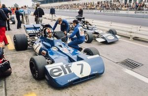 François Cevert, Tyrrell 002 Ford, Carlos Pace, March 711 Ford