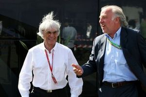 Bernie Ecclestone avec David Richards, PDG de Prodrive