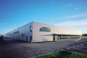 La fábrica de KTM en Mattighofen
