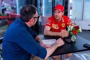 Roberto Chinchero, Motorsport.com ITA with Sebastian Vettel, Ferrari