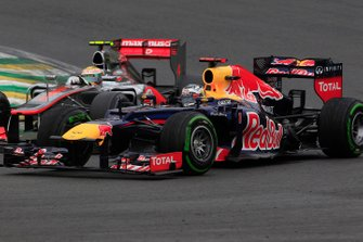 Sebastian Vettel, Red Bull RB8 Renault, y Lewis Hamilton, McLaren MP4-27 Mercedes