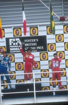 Alain Prost, Ferrari, Thierry Boutsen, Williams, Ayrton Senna, McLaren, GP di Gran Bretagna del 1990