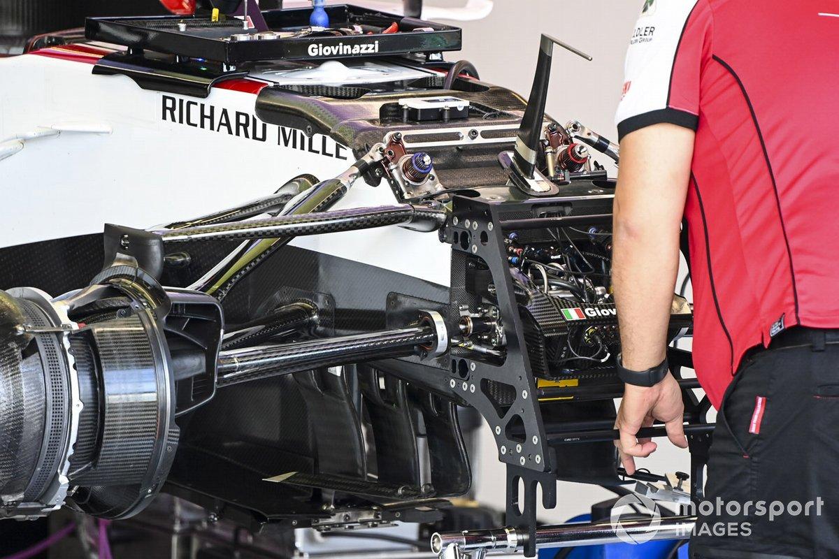 Suspension del Alfa Romeo Racing C39