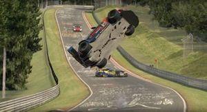 Tremendo accidente virtual