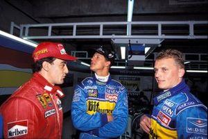 Jean Alesi, Michael Schumacher, e Johnny Herbert, GP d'Argentina del 1995