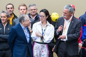 Jean Todt, President of FIA, Michelle Yeoh, Chase Carey, CEO of F1