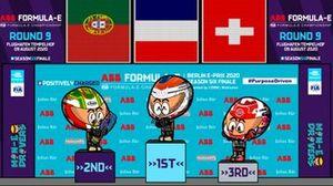 El podio del ePrix de Berlín donde Da Costa y DS Techeetah se coronaron, por los Minis