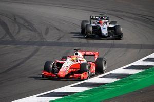 Mick Schumacher, Prema Racing, leads Nikita Mazepin, Hitech Grand Prix