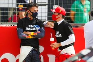 Алекс Элбон, Red Bull Racing и Шарль Леклер, Ferrari on the grid