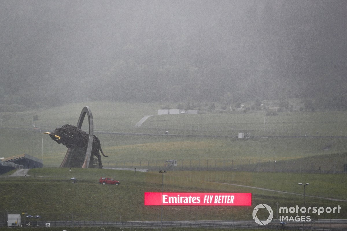 Importante lluvia en el Red Bull Ring