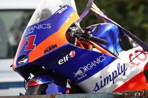 La moto accidentée d'Ayumu Sasaki, Tech 3