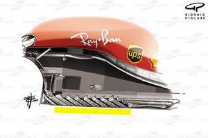 Il nuovo fondo della Ferrari SF1000 al GP di Stiria