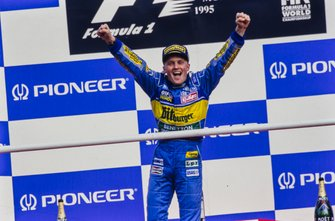 Race winnaar Johnny Herbert, Benetton