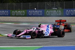 Lance Stroll, Racing Point RP20, leads Sebastian Vettel, Ferrari SF1000