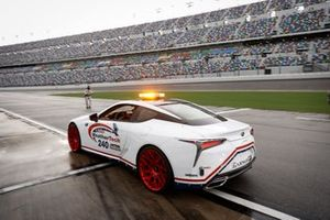 WeatherTech CEO David MacNeil, Grand Marshal in the Lexus LC pace car