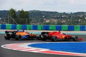 Sebastian Vettel, Ferrari SF1000, leads Carlos Sainz Jr., McLaren MCL35