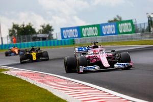 Sergio Pérez, Racing Point RP20, Daniel Ricciardo, Renault F1 Team R.S.20