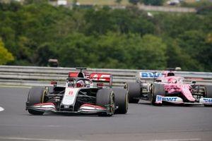 Romain Grosjean, Haas VF-20, Sergio Pérez, Racing Point RP20