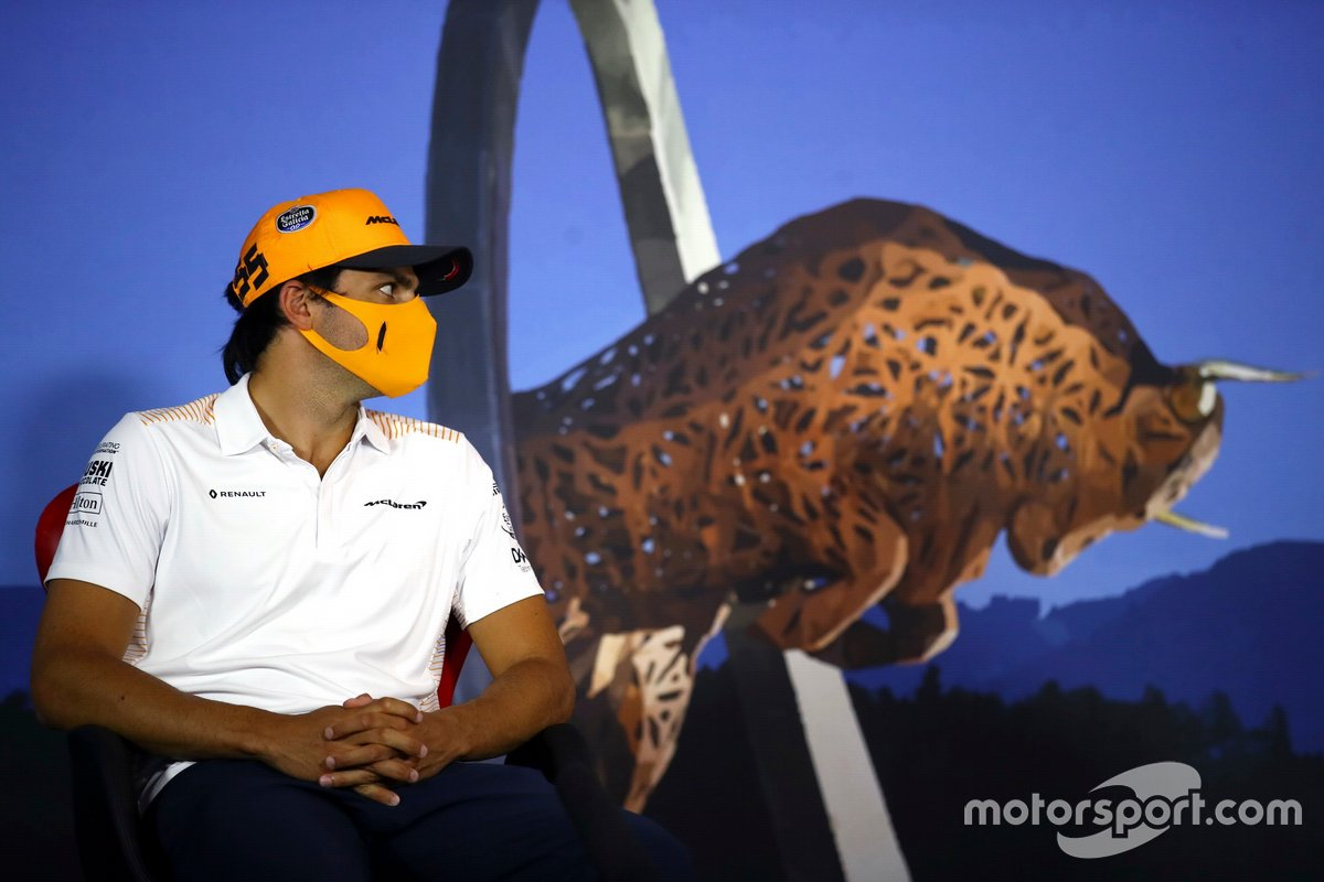 Carlos Sainz Jr., McLaren in the press conference
